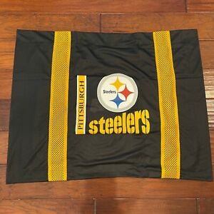 NEW Pittsburg Steelers Logo Sidelines NFL Jersey Pillow Sham Standard Size NWT