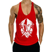 Summer Mens Tank Tops Of Gym Printing Clothing Fitness Workout For Sports
