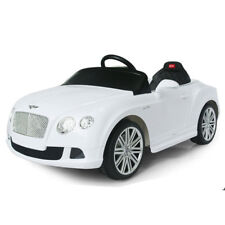 KIDS RIDE ON BENTLEY CONTINENTAL  LICENSED 12V  REMOTE CONTROL PAINTED WHITE