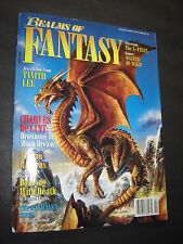 REALMS OF FANTASY #3 FEBRUARY 1995 MAGAZINE TANITH LEE CHARLES De LINT !