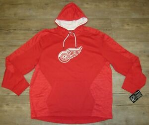 Detroit Red Wings Majestic Thermabase Team Hoodie Jacket size Men's 2XL