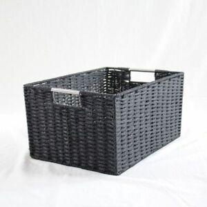 Chattel Storage Basket Black XLarge