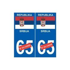 Serbie Serbia sticker numéro au choix autocollant plaque SRBIJA droits