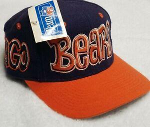 NWT Vintage Chicago Bears Drew Pearson Bubble Graffiti Script Snapback Hat Cap