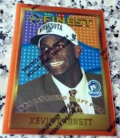 KEVIN GARNETT 1995 Topps Finest #1 Draft Pick Rookie Card RC Coating Celtics HOF