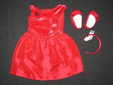 Genuine American Girl Doll Clothes (Rosey Traje Rojo)