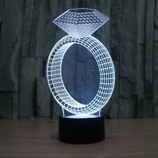 Diamand Ring Valentine's Day Gift Acrylic 3D LED Night Light Touch Switch USB