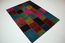 moderne Patchwork Délavé Used Look PERSAN TAPIS tapis d'Orient 2,38 x 1,74
