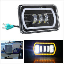 """Jeep Truck Offroad 4""""X6"""" Square White LED Headlight High/Low Beam+DRL Waterproof"""