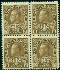 CANADA #MR4 2¢ + 1¢ War Tax Stamp, Block of 4, og, NH,