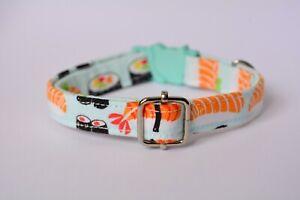 Cat collar breakaway 'Sushi'  / kitten collar, cat collar with bell