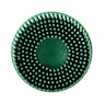 "3M-07526 Scotch-Brite Roloc Bristle Disc 7526 GREEN , 3"", (2 Discs)"