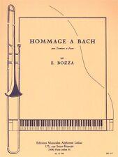 Eugène bozza omaggio a Bach trombone Pianoforte songsentury Trombone Musica libro