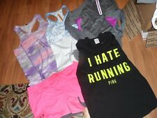 lot of 5 women athletic shorts & tops tank shirt ~ large ~ under armour RBX VS
