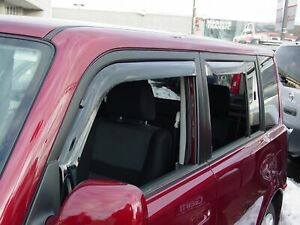 Scion xB 2004 - 2007 Wind deflectors In-Channel