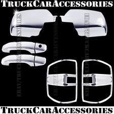 For CHEVY Silverado+HD 2014 2015 2016 Chrome Covers Mirrors+2 Doors+Tail Lights