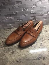 Ralph Lauren Polo Tan Penny Loafers Made In England By Crockett and Jones Sz 10d