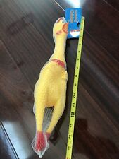 15 Inch Pet Dogs Shrilling Rubber Chicken Chew Sound Squeeze Screaming Toy USA