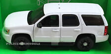 Welly 1/24-1/27 2008 Chevy Tahoe Police SUV - BLANK WHITE w/ Accessories 22509