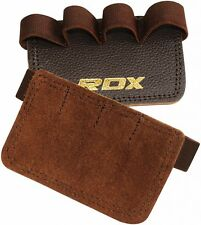 RDX Leather Weight Lifting Grips Training Gym Straps Gloves Hand Palm Support US
