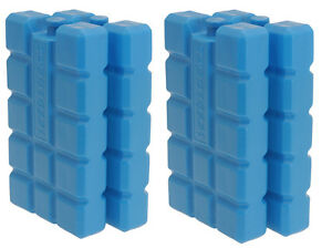 4 PACK- 400ml Each Travel Cool Packs Box Bag Ice Freezer Blocks Reusable Picnic