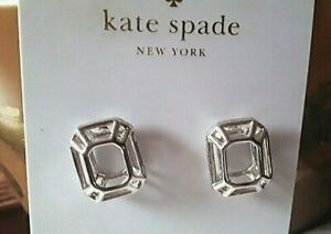 """KATE SPADE New York earrings NWT""""FREEZE FRAME"""" Silver Stud MODERN ICONIC 3D cage"""