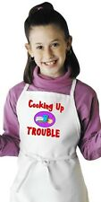 Funny Child Apron For Kids Cooking Up Trouble Childrens Bib Aprons by CoolAprons