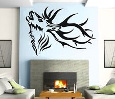Wall Stickers Vinyl Decal Deer Horn Tribal Animal Nature ig251
