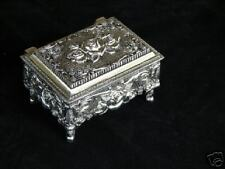 Isabella Casket Style Silver Plated Jewelry Bx Antiqued