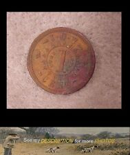 Antique 1861 US Civil War Token / Coin Knickerbocker Currency IOU 1 Cent