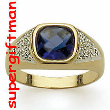 X013 - BAGUE OR / ring goud  SAPHIR CZ DIAMANTS CZ T58