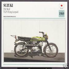 1969 Suzuki T90cc Wolf / T125cc Flying Leopard Motorcycle Photo Spec Info Card