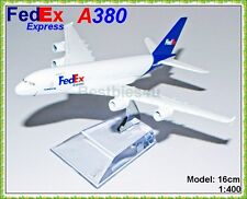16cm AIRBUS A380 FEDEX COURIER CARGO PLANE MODELS METAL AIRLINES AEROPLANE TOYS