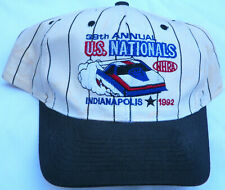 "VINTAGE PRE-OWNED ""38th ANNUAL NHRA U.S. NATL`S 1992"" MEN`S DRAG RACING CAP!!"