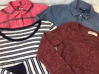 Women's Button Down Long Sleeve Shirts J Crew Old Navy Lot of 4 Blue Pink sz S