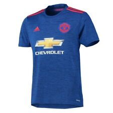 NEW - ADIDAS Youth MANCHESTER UNITED AWAY '16-'17 Blue/Red SOCCER JERSEY - L