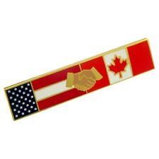 American Canadian Flag Police Citation Bar Undress Merit Award Commendation Pin