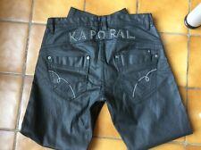 Pantalon Kaporal 5 noir effet huilé W31 L32 ( voir mesures) T Shirt ACDC 🎁