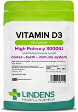 Vitamin D3 3000IU 120 Capsules Lindens Health + Nutrition Ltd (1110)