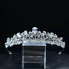 Silver tiara crystals wedding prom bridal occasions event queen UK