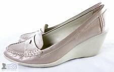 GEOX Casual Patent Leather Pebble Pink Platform Wedge Soft Comfy Shoes 40 EU 7UK