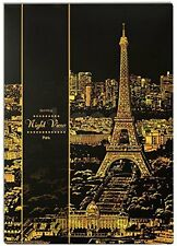 "Lago Scratch Paper Night View Map 16"" x 11"" w/ Wood Pen - Paris"
