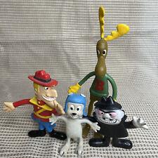4 Rocky & Bullwinkle Boris Dudley Loose Bendy Bendies Pvc Figure Toy 1985 Jesco