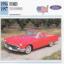 1954-1957 FORD THUNDERBIRD T-Bird Classic Car Photo/Info Maxi Card