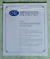 Creative Memories 8x10 White Ruled Scrapbook Pages RCM-10R Open Package
