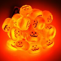 Halloween LED String Lights Decor Party Pumpkin Skull Bat Star Eyeball