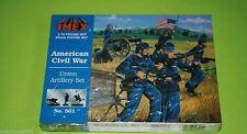 Conjunto de artillería de Unión ACW 1/72 IMEX Wargames 501