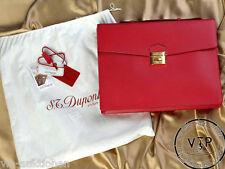 """S.t. Dupont """"Contraste"""" serviette sac en cuir bag Briefcase Case serviette sac"""