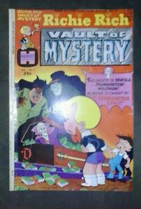 RICHIE RICH VAULT OF MYSTERY 2! vg/f 5.0! GREAT HARVEY BRONZE AGE comic book wow