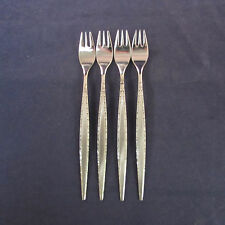 SET OF FOUR - Oneida Stainless VENETIA Cocktail Forks * COMMUNITY